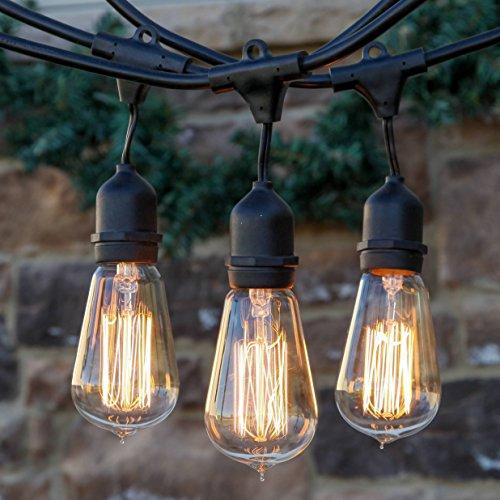 Porch Light Llc: Black Vintage String Lights – 50ft